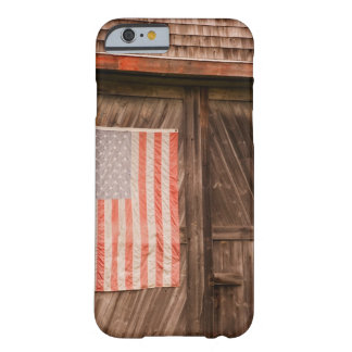 Maine bandera americana descolorada en puerta del funda de iPhone 6 slim