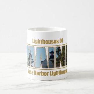 Maine Bass Harbor Lighthouse Image Text Coffee Mug