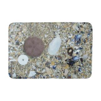 Maine Beach and Shells Bathroom Mat