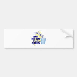 Maine Beer Pong Champion Bumper Sticker