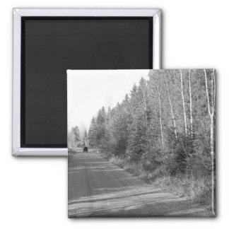 Maine_Black+White_134 Magnet