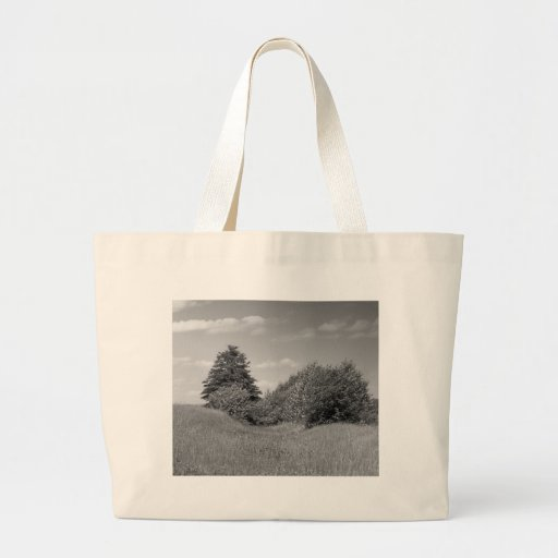Maine_Black+White_144 Large Tote Bag