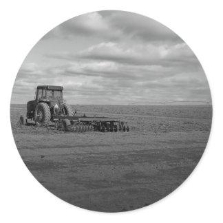 Maine_Black White_157 Classic Round Sticker