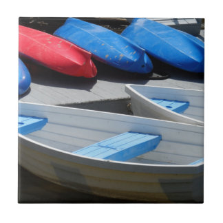 Maine Boats Tile