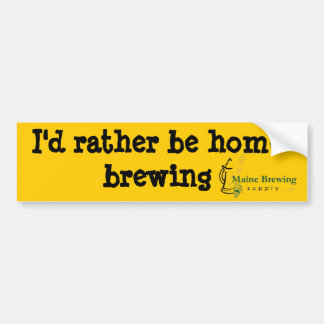 Maine Brewing Supply bumper sticker #1