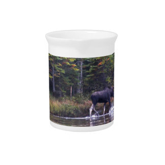 Maine Bull Moose Beverage Pitcher