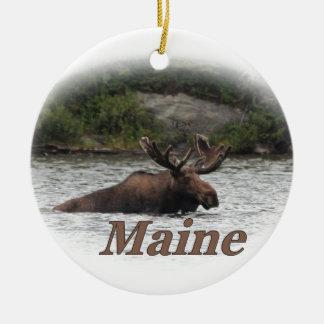 Maine Bull Moose Ceramic Ornament