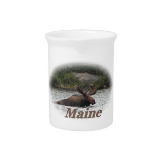 Maine Bull Moose Drink Pitcher
