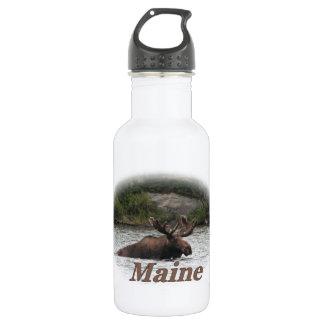 Maine Bull Moose Stainless Steel Water Bottle