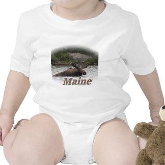 Maine Bull Moose Rompers