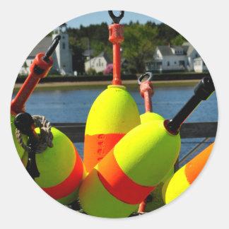 Maine Buoys Classic Round Sticker