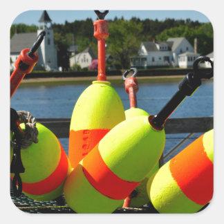 Maine Buoys Square Sticker