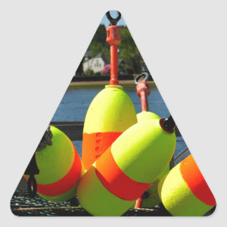 Maine Buoys Triangle Sticker