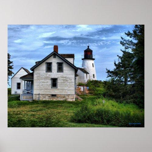 Maine Burnt Island Lighthouse Poster zazzle_print