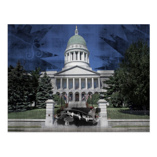maine captiol postcard