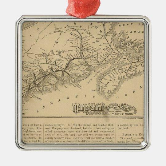 Maine Central Railroad Metal Ornament