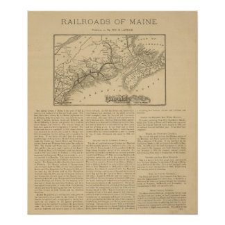 Maine Central Railroad Poster