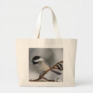 Maine Chickadee Canvas Bags