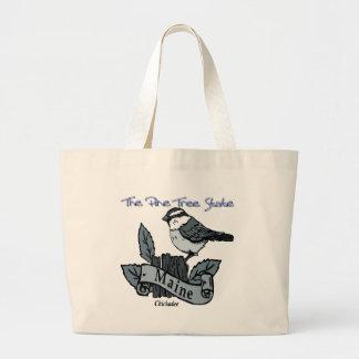 Maine Chickadee The Pine Tree State Canvas Bag