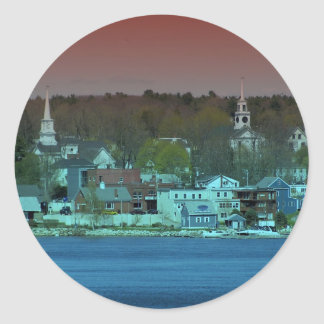 Maine_Coast_11 Pegatina Redonda