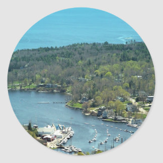 Maine_Coast_2 Classic Round Sticker