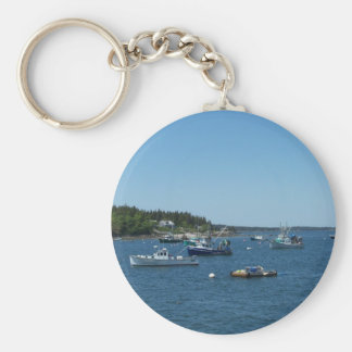 Maine Coast Basic Round Button Keychain