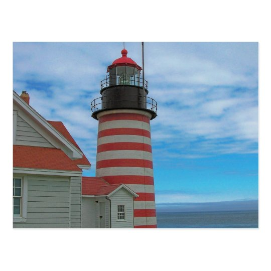Maine Coast Lighthouse Postcard