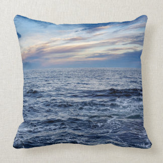 Maine Coast Seascape Throw Pillow