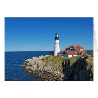 Maine Coastal Lighthouse Card