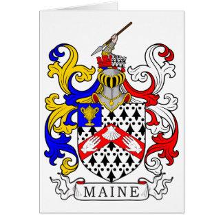 Maine Coat of Arms Card