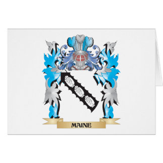 Maine Coat of Arms - Family Crest Greeting Card