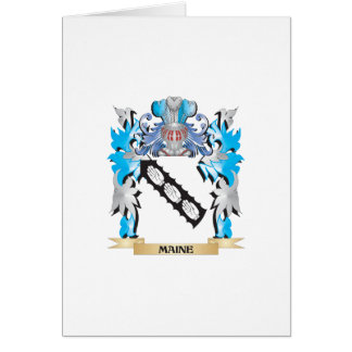 Maine Coat of Arms - Family Crest Cards