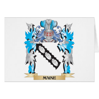 Maine Coat of Arms - Family Crest Greeting Cards