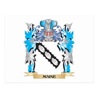 Maine Coat of Arms - Family Crest Postcards