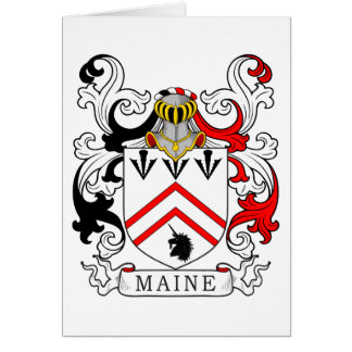 Maine Coat of Arms II Greeting Card