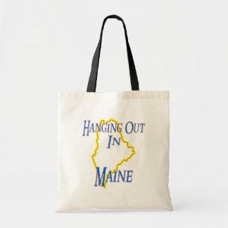 Maine - colgando hacia fuera bolsa lienzo