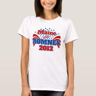 Maine con Romney 2012 Playera