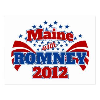 Maine con Romney 2012 Postal