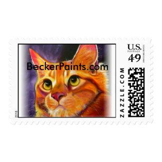 Maine Coon, BeckerPaints.com Stamp