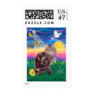 Maine Coon Cat 10 - Twilight Postage