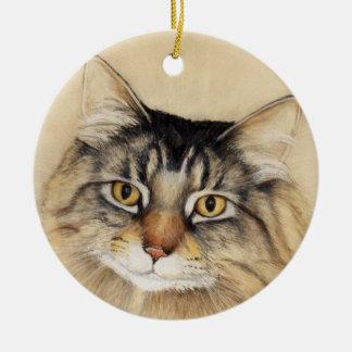 Maine Coon Cat Art Ornament