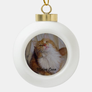 Maine Coon cat Ball Ornament