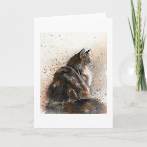 Maine Coon Cat Blank Notecard