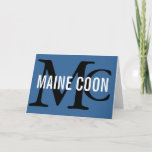 Maine Coon Cat Breed Monogram Note Card