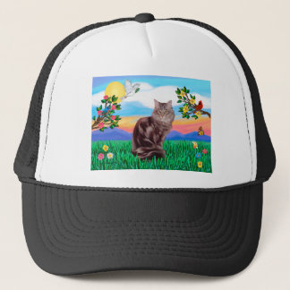 Maine Coon Cat  - Bright Life Trucker Hat