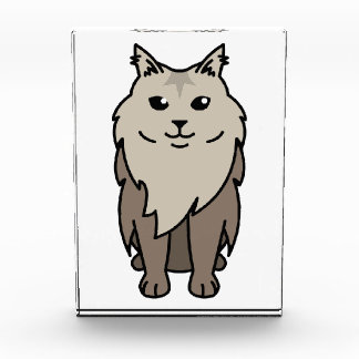 Maine Coon Cat Cartoon Acrylic Award