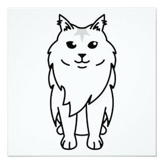 Maine Coon Cat Cartoon Card