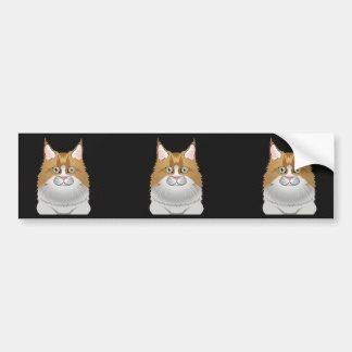 Maine Coon Cat Cartoon Light Bumper Stickers
