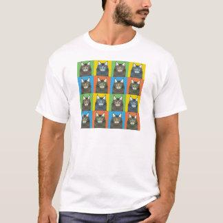 Maine Coon Cat Cartoon Pop-Art (Dark) T-Shirt