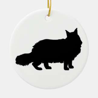 Maine Coon Cat Ceramic Ornament